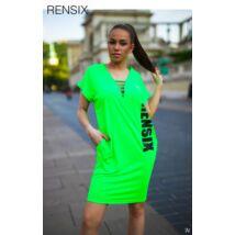 Zsebes RENSIX tunika neon zöld
