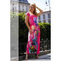 2745/ pink virágos BEBE ruha