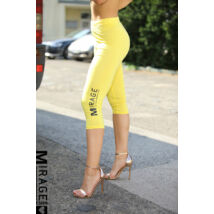 MIRAGE 3/4-es leggings/sárga