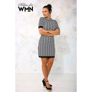 Fendi Nolino kötött ruha/fekete-fehér
