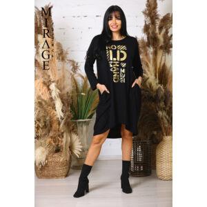 Málna Mirage ruha/fekete
