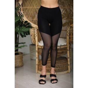 Neccbetétes Mirage leggings/fekete