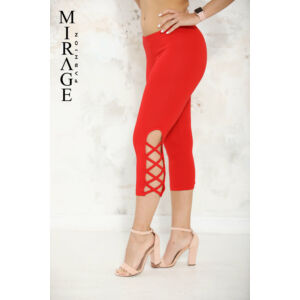 Rácsos Mirage legging/piros