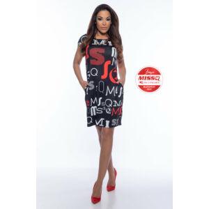 Zsülike MISSQ ruha/piros-fekete