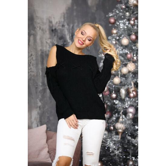 Babett Italy fekete kötött pulcsi