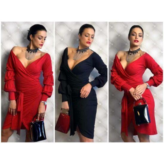 Chic piros DRESSBYRITUAL ruha