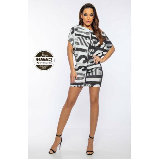 Panama MissQ tunika/fekete-fehér