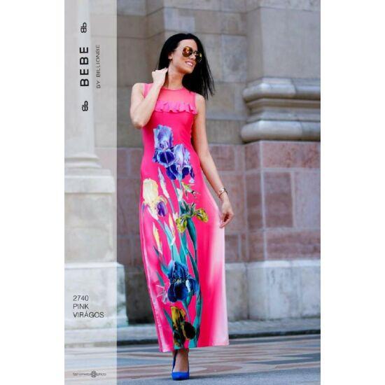 2740/pink virágos BEBE ruha