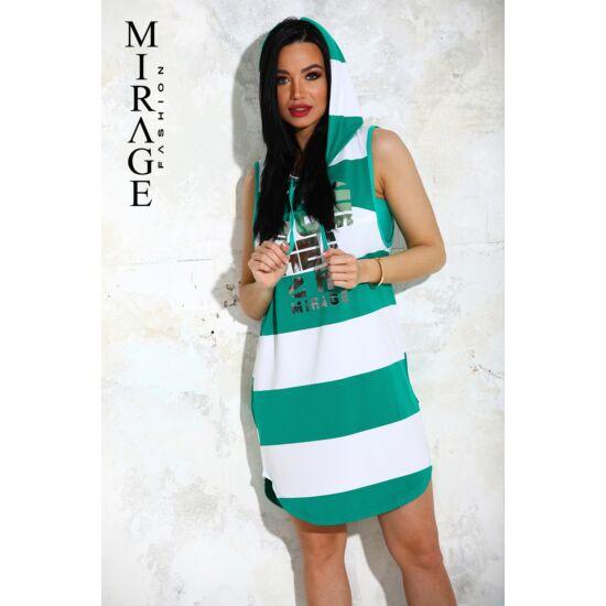 Tiffany Mirage ruha+top/zöld-csíkos