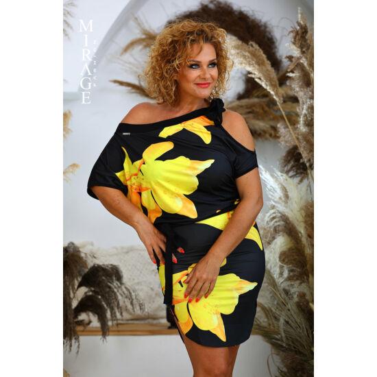 Zina Mirage ruha/fekete-virágos