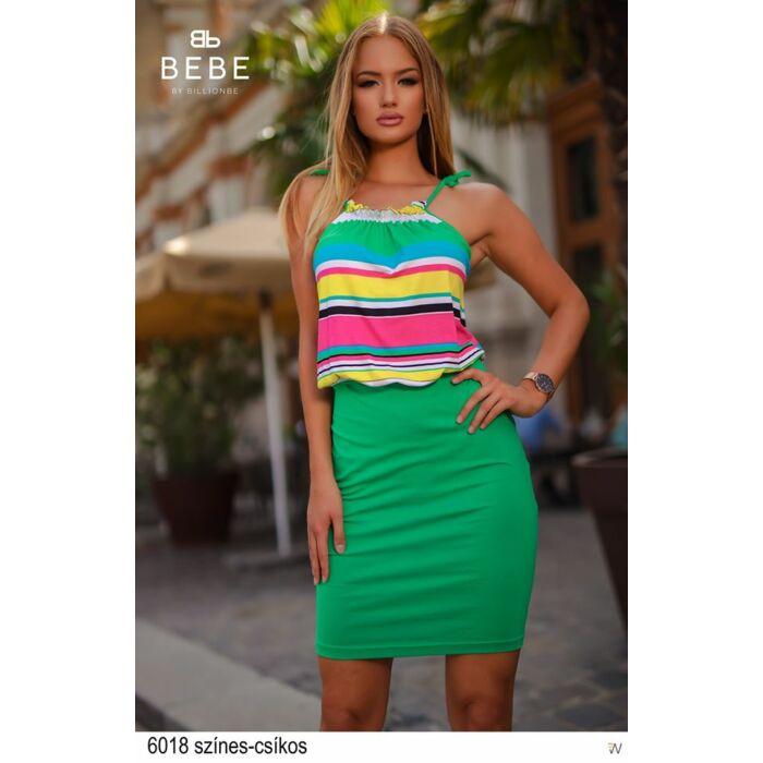 6018/színes csíkos BEBE ruha