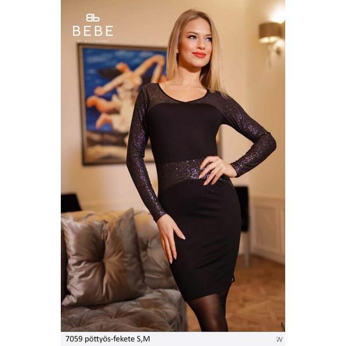 7059/fekete Bebe ruha
