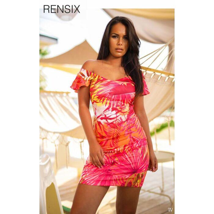 Fodros vállú RENSIX ruha