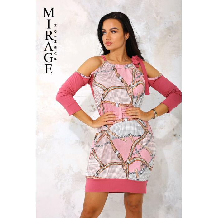 Emiliána Mirage ruha/rózsaszín mintás