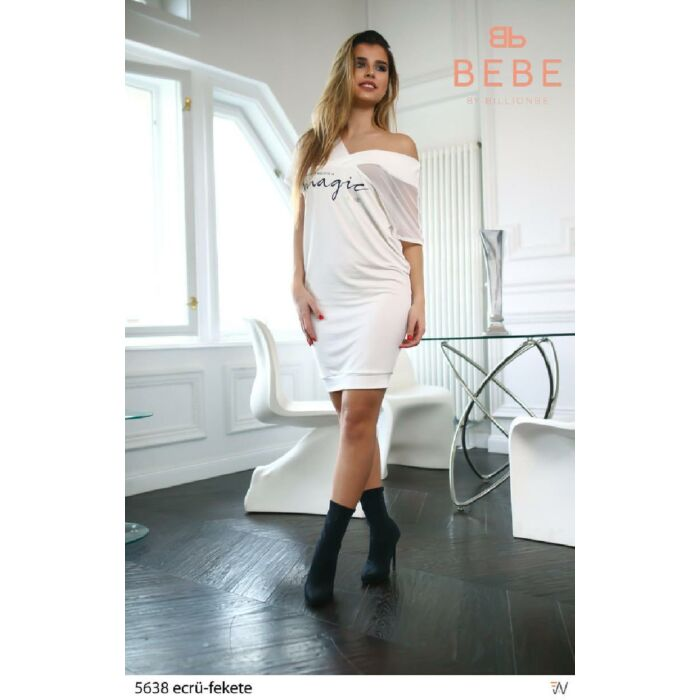 5638/ecrü-fekete BEBE ruha