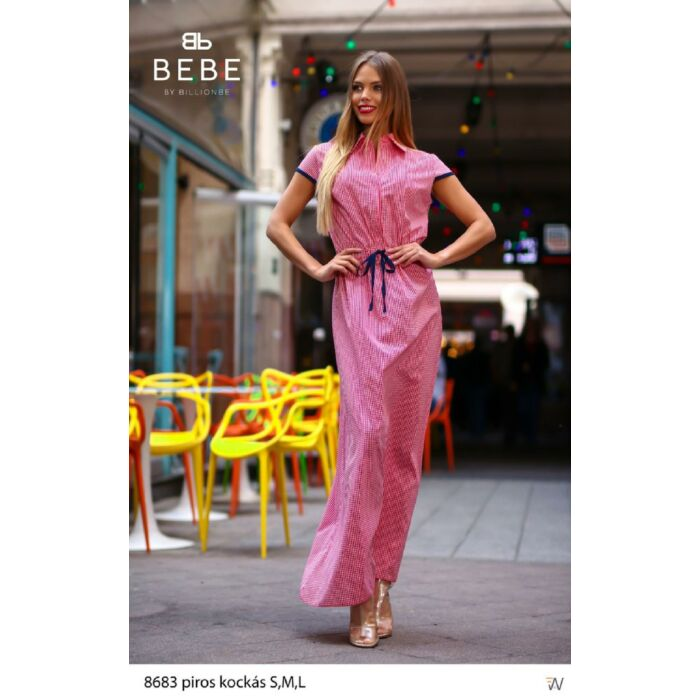 8683/ piros kockás Bebe ruha